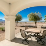 The views from The Polidori House can be enjoyed from an outside patio.